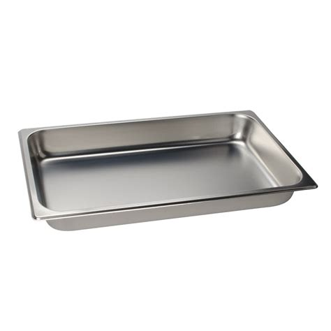 1 2 size steam pan 2 1 2 quot deep full size standard weight economy stainless