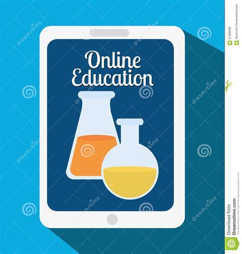 online design qualifications online education design stock vector image 61986086