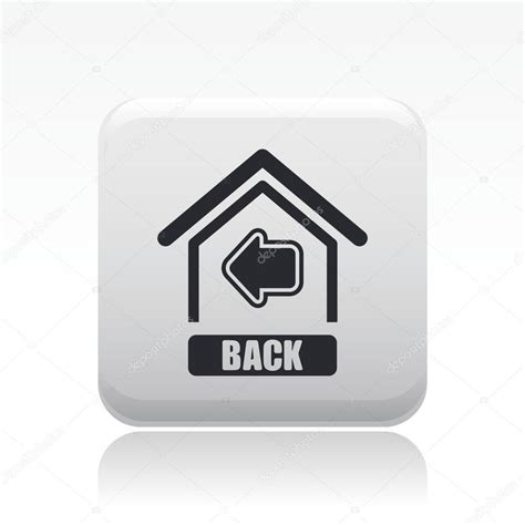 vector illustration of single back home icon stock