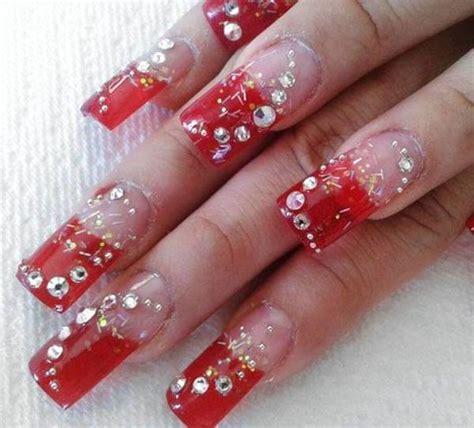 imagenes de uñas decoradas rojo y dorado 98 dise 241 os de u 241 as decoradas con piedras muy originales