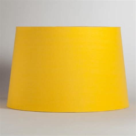 yellow silver embossed floor l shade world market