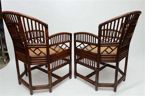 vintage wicker barrel chairs pair of vintage bamboo rattan barrel chairs at 1stdibs