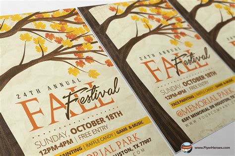Rustic Fall Flyer Template Flyer Templates On Creative Market Rustic Flyer Template