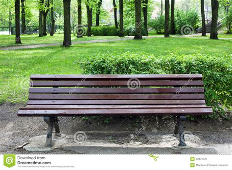 old park bench bench in old park royalty free stock photography image