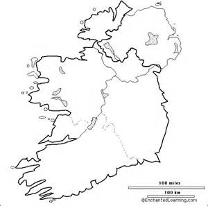 Ie Map Area Outline by Outline Map Research Activity 3 The Republic Of Ireland Enchantedlearning