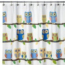 hoot owl curtains com what a hoot owl fabric shower curtain yellow