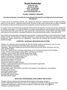 resume international strategic sourcing supplier