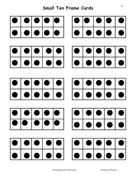 dot and number cards 0 10 simple printable cards for ten frame template and this one is for a deep frame