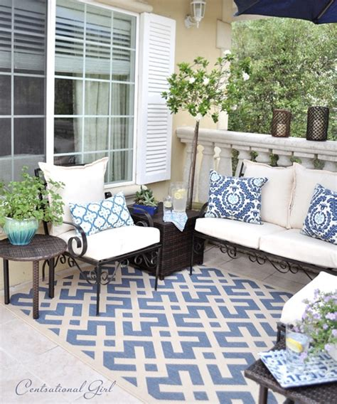 outdoor rugs outdoor decor outdoor furniture our blue balcony centsational girl