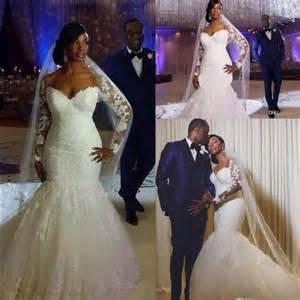 south africa long sleeves lace wedding dresses mermaid