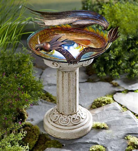 solar lighted dragon birdbath solar birdbaths wind