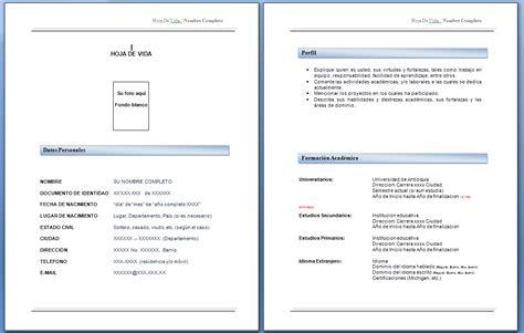 descargar formatos para hojas de vida gratis formato hoja de vida 2012 descargar gratis mundonets