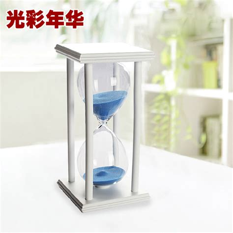 Office Desk Ornaments Rack 60 Minutes Hourglass Timer Home Accessories Living Room Ornaments Decorations Simple Wooden