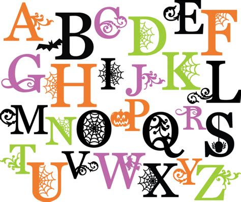 free printable halloween alphabet letters halloween monograms set svg scrapbook letters spiderweb
