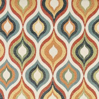 Blue Green Upholstery Fabric Green Blue Orange And Gold Contemporary Upholstery