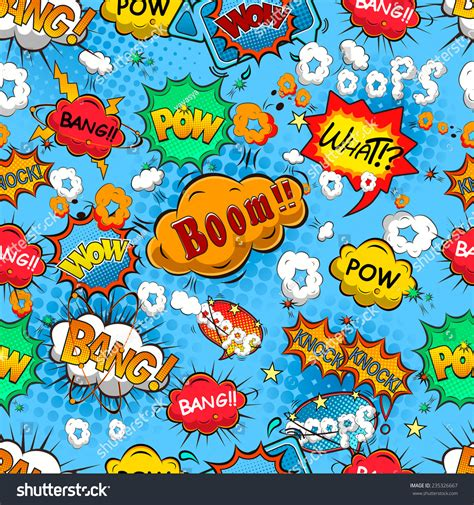 speech pattern en français comic speech bubbles seamless pattern vector 235326667