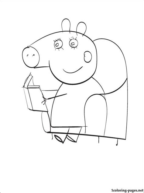 peppa pig house coloring pages peppa pig house coloring pages