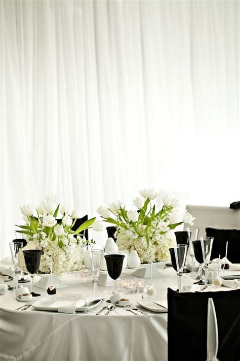 White Table Settings Picture Of Black And White Wedding Table Settings