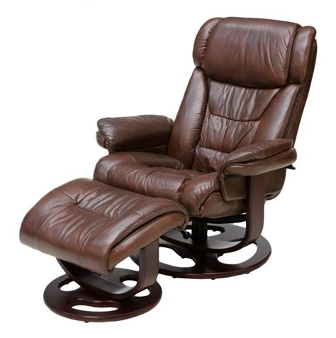 lane swivel recliner chairs lane reclining swivel leather armchair ottoman lot 117
