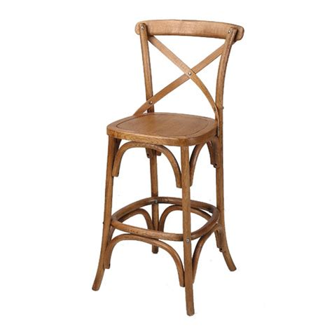 Cross Back Bar Stool Classic Cross Back Bar Stool 2 The One Day House