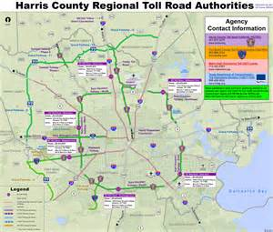 map of harris county houston area toll roads free