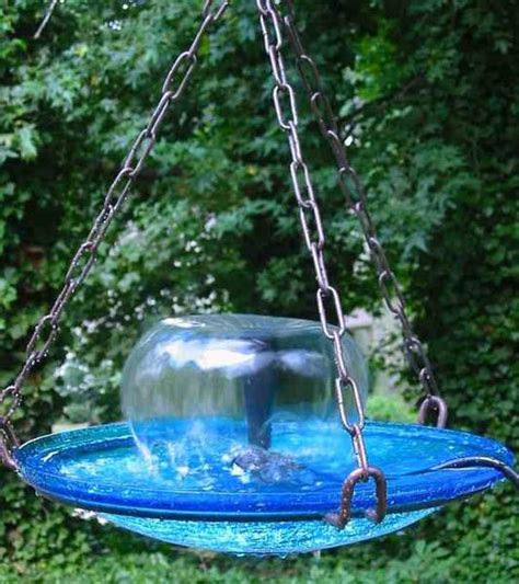 Home Decor Furnishings Accents Large Hanging Bird Bath Fountain The Birdhouse