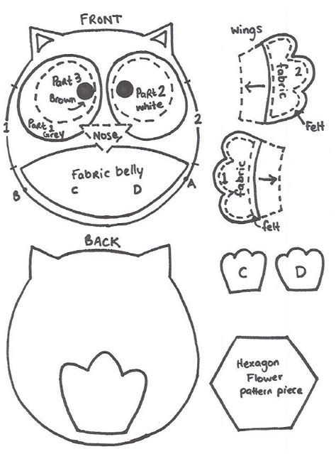 owl templates for sewing how to sew a baby felt owl pattern s 243 corujas