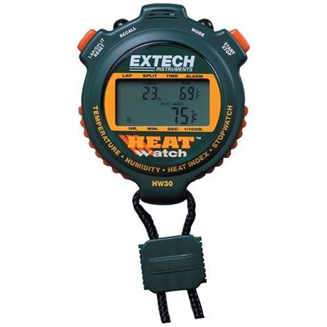 Extech Stopwatch Heat Index Hw30 instruments cheap extech hw30 combination humidity