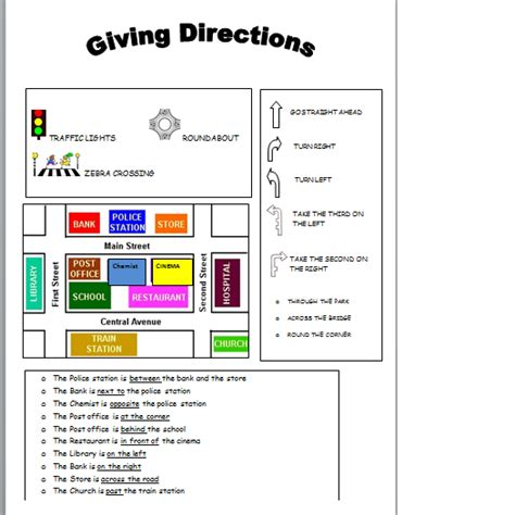 giving directions printable sheets ups and downs of teaching worksheets