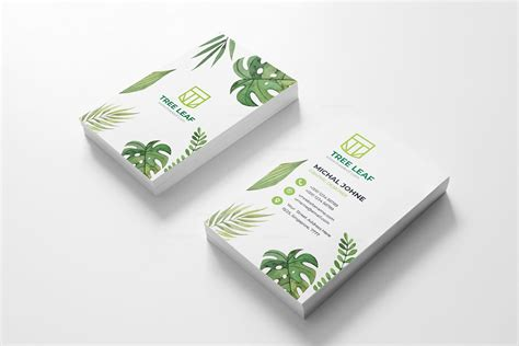 Vertical Business Card Design Templates by Leaf Vertical Business Card Design Template 001798