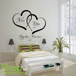 Letters Stickers For Walls me and you love heart wall sticker quote home wall art