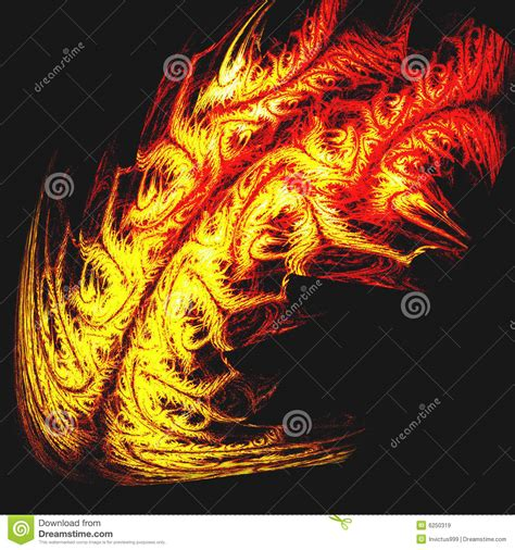 tribal tattoo of dragon fire or tiger skin stock