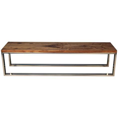 milo baughman bench chrome and walnut milo baughman bench for sale at 1stdibs