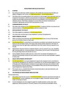 hr advance recruitment policy