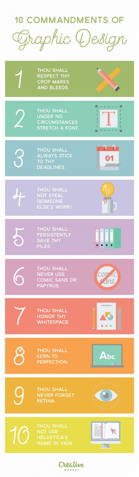 graphic design page layout rules infographic 10 commandments of graphic design creative