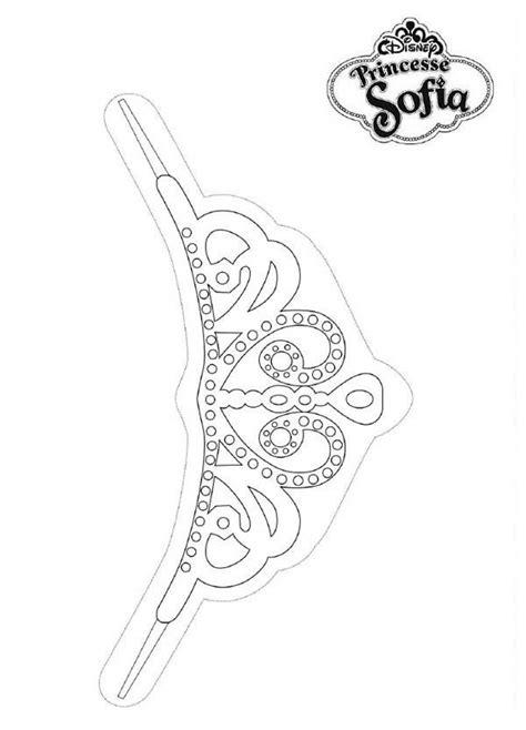 sofia the first tiara template invitation templates