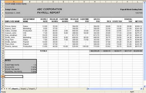 microsoft excel payroll template best photos of sle excel payroll template free excel