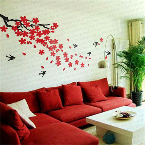 Ikea Wall Art Stickers ikea style crystal 2mm thick three dimensional cherry