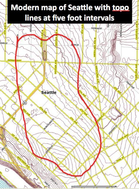 seattle va map david b williams s denny hill maps september