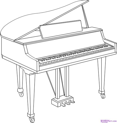 Step 6 How To Draw A Piano sketch template