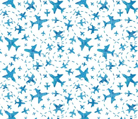 pattern plane video airplanes fabric oksancia spoonflower