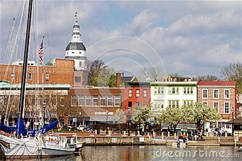 boat graphics annapolis annapolis downtown harbor editorial stock image image