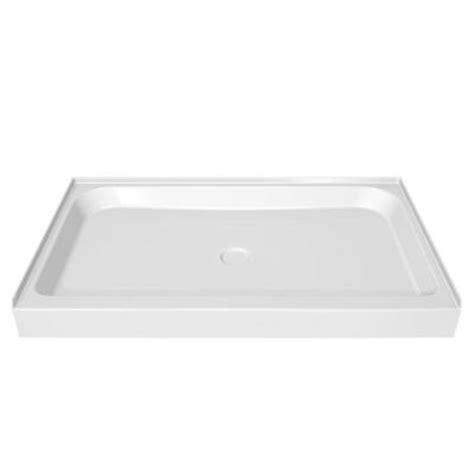 42 X 36 Shower Base by Maax 42 In X 36 In Single Threshold Shower Base In White