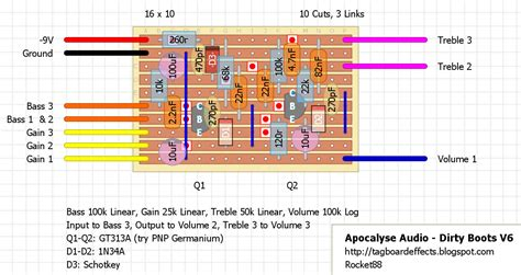 boots layout it guitar fx layouts apocalypse audio dirty boots version 6