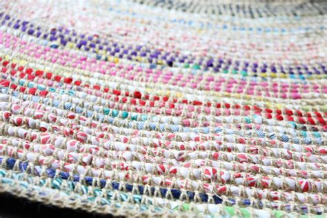 crocheted rag rugs directions coil crochet scrap fabric rug diy my poppet makes