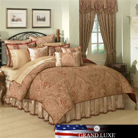 castille 4 piece king size comforter set contemporary