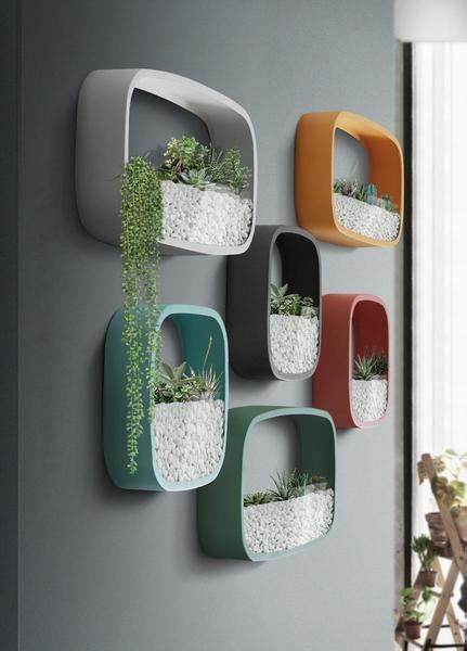 nova rounded modern wall planters warmly