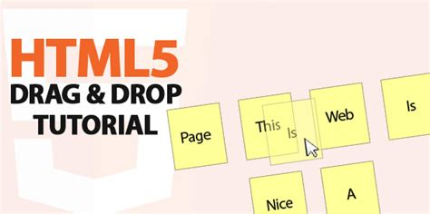 tutorial javascript drag and drop how to create a simple drag and drop component using html5