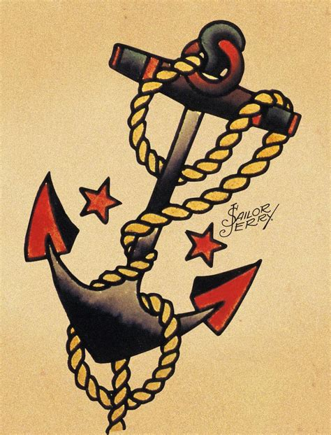 sailor jerry tattoo design for jason on sailor tattoos anchor