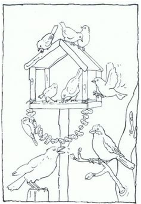 coloring page bird feeder v o g e l s thema on pinterest